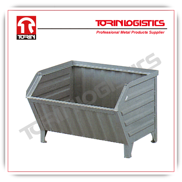 stackable foldable steel container for storage for warehouse (L800*W500 mm/OEM)