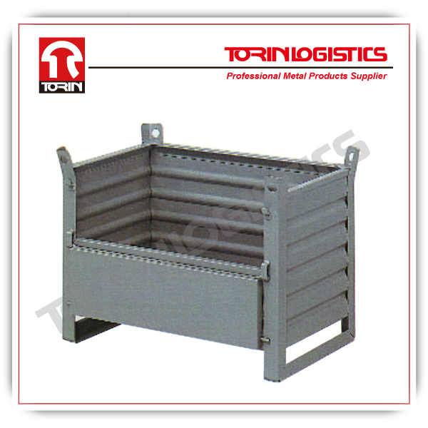 Container crate storage bin steel wire container (L800*W500 mm/OEM)