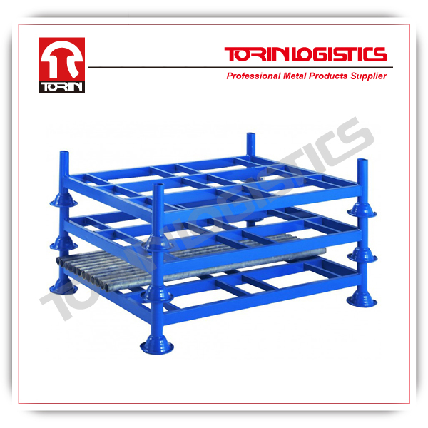 Steel foldable Racks /portable warehouse stackable racks