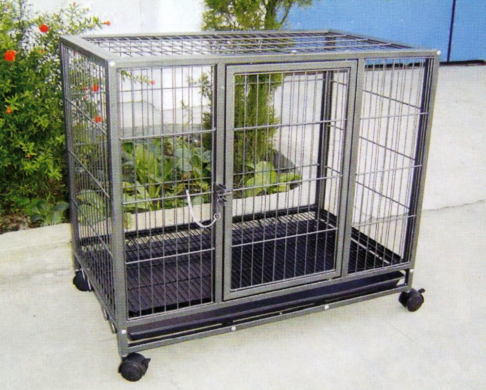 Pet Dog Cage Steel Pet Cage With Wheels