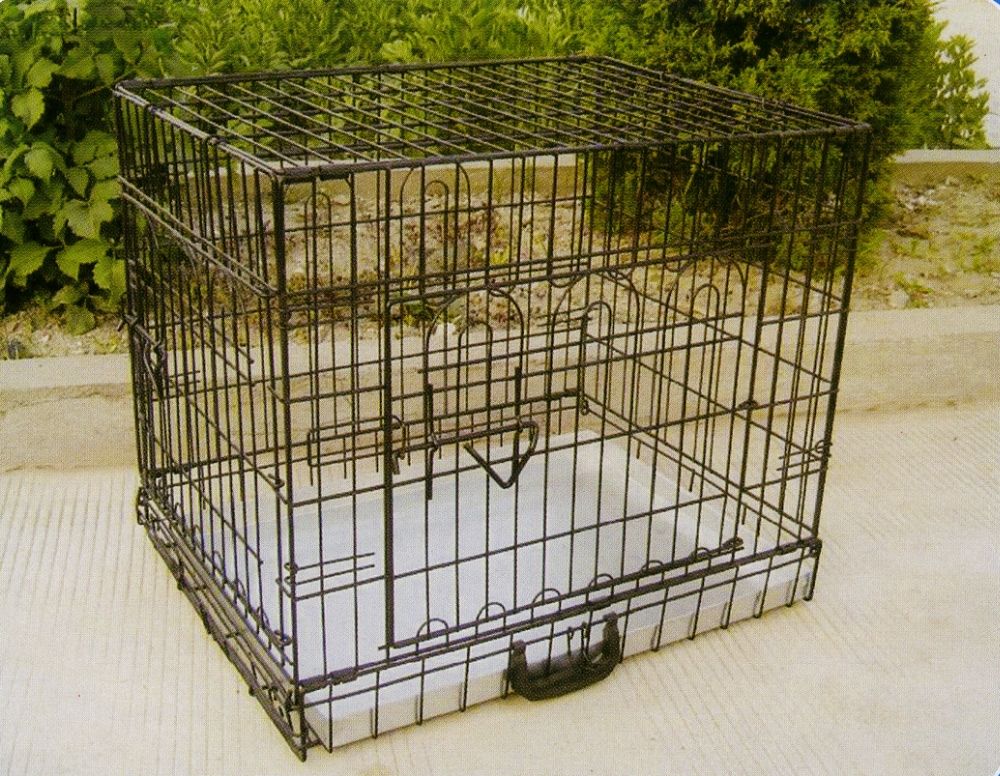 Metal Dog Cage With ABS Tray
