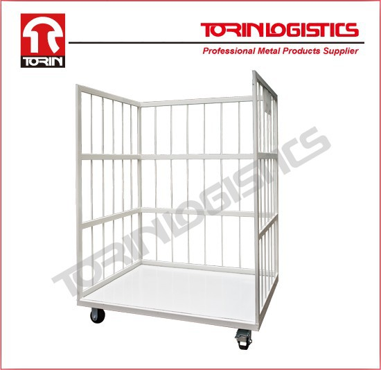 Hand Cart Moving Transport Warehouse Wire Rolling Security Cage