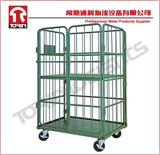 Material handling foldable metal container cage (L1450*W700 mm/OEM)